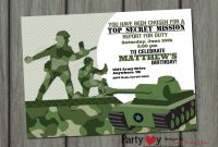 Best 2018 New Tips Of Free Army Birthday Party Invitation Template in sizing 1365 X 975