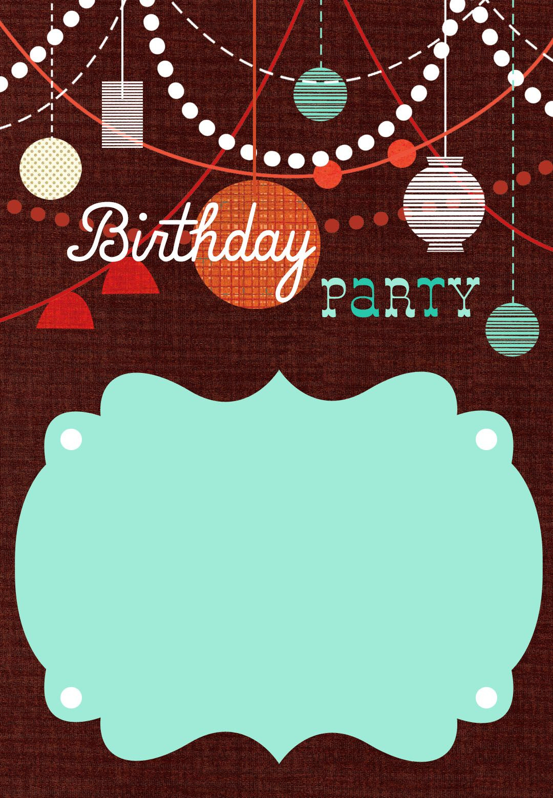 graphic about Free Printable Birthday Decorations titled Classic Birthday Get together Invitation Template Invitation