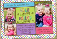 Birthday Invitation Double Birthday Party Invitations Free pertaining to sizing 1024 X 1024