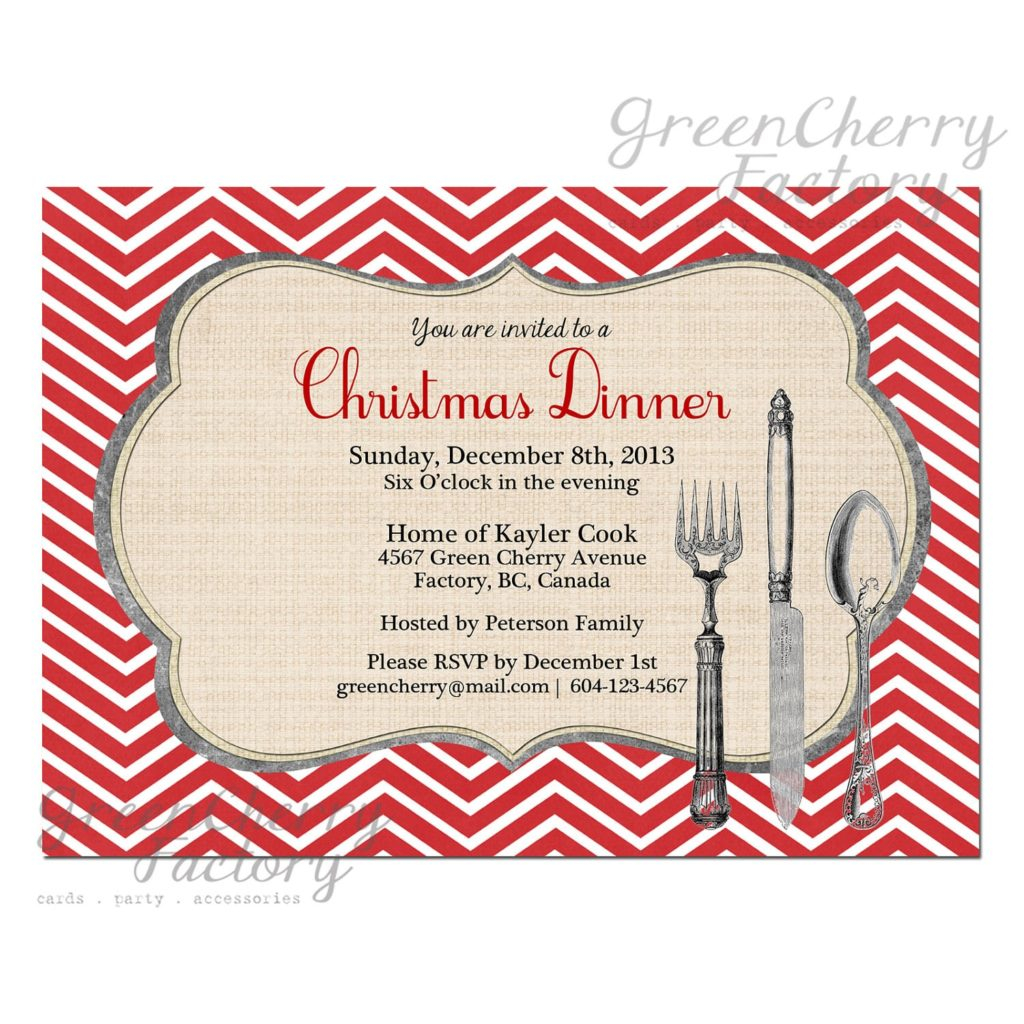 Christmas Menu Invitation Template O Ideas