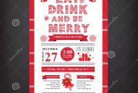 Christmas Restaurant And Party Menu Invitation Stock Vector within sizing 1300 X 1390