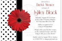 Daisy Wedding Invitations Bridal Shower Invitation Red Gerbera Daisy regarding dimensions 2175 X 2175