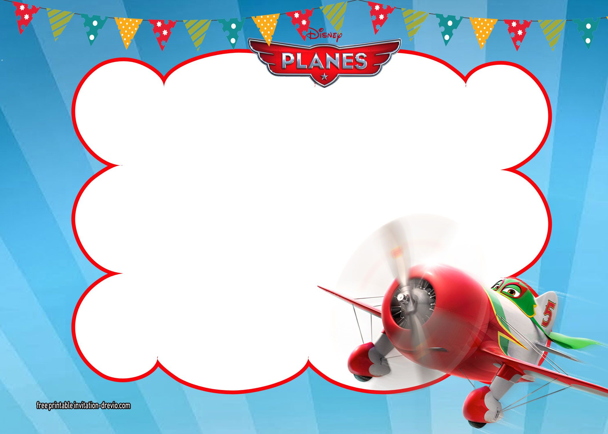 photograph regarding Free Printable Birthday Invitation Templates identified as Disney Planes Birthday Invitation Template Invitation