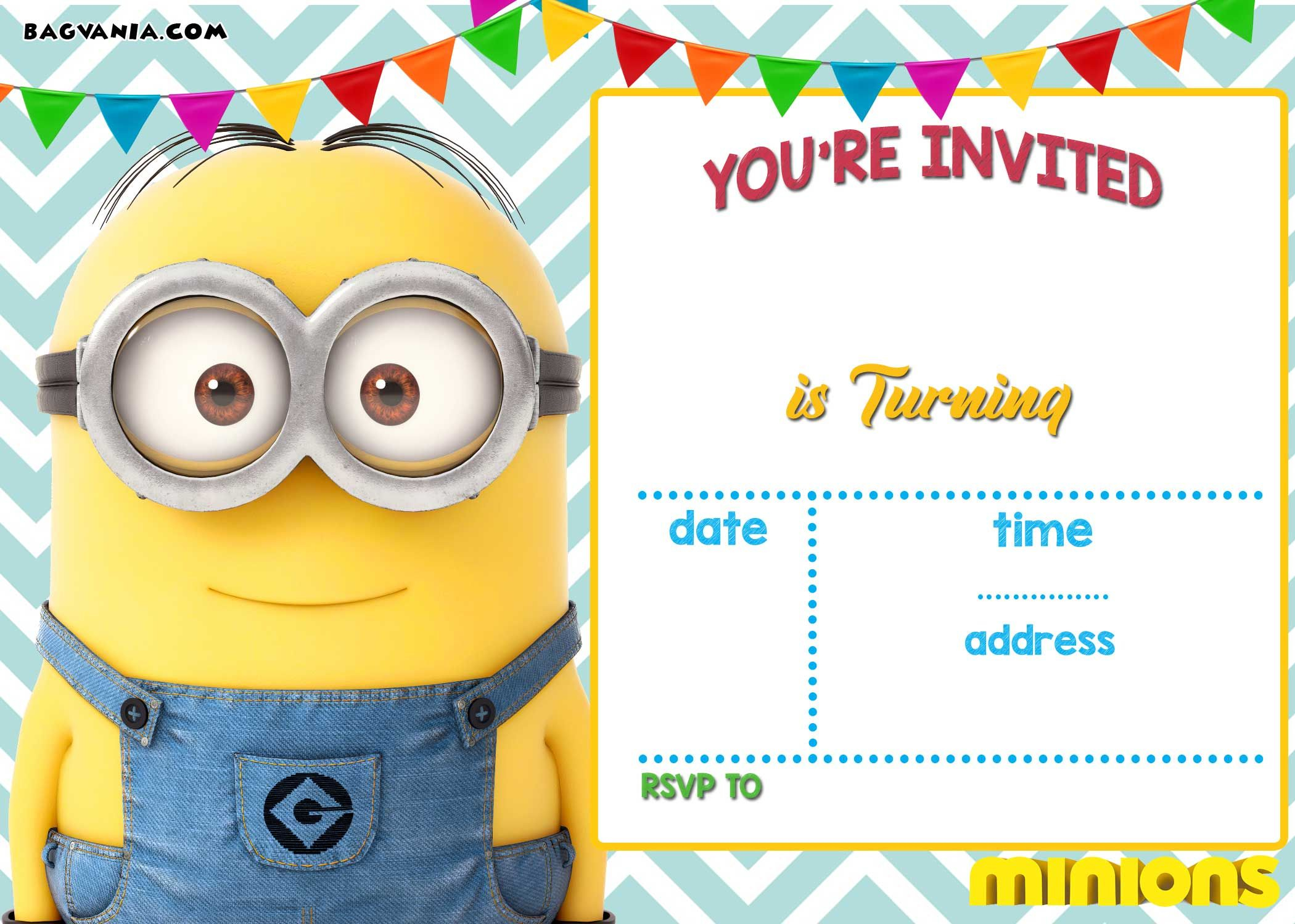 graphic regarding Minion Template Printable identified as Minions Birthday Invitation Template Invitation Template Programs