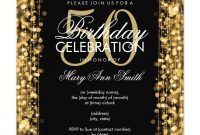 Elegant 50th Birthday Party Sparkles Gold Invitation In 2018 with size 1106 X 1106
