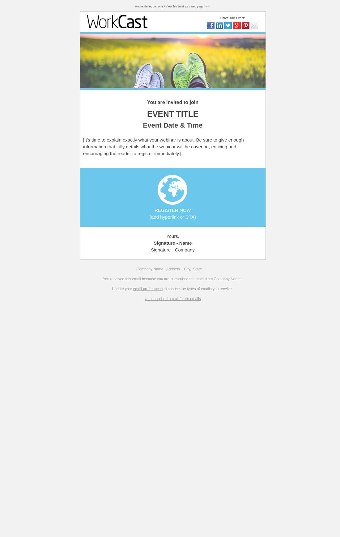 Webinar Invitation Email Template O Ideas