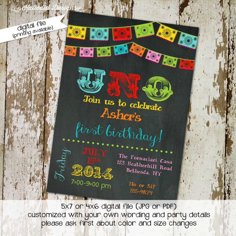 Uno Birthday Party Invitation Template O Ideas