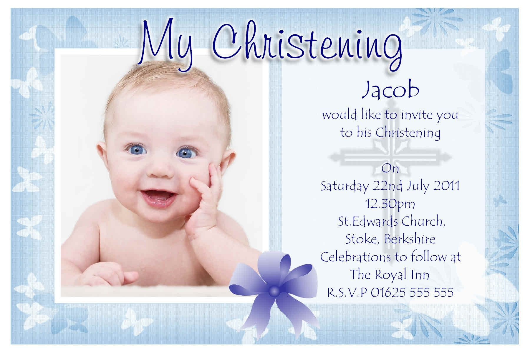 Christening Invites Templates Invitation Template Ideas
