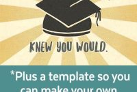 Free Graduation Cards Plus Envelope Template Recipe Holiday regarding dimensions 564 X 1692