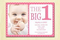 Free Printable 1st Birthday Invitation Template Birthday with regard to sizing 1500 X 1071