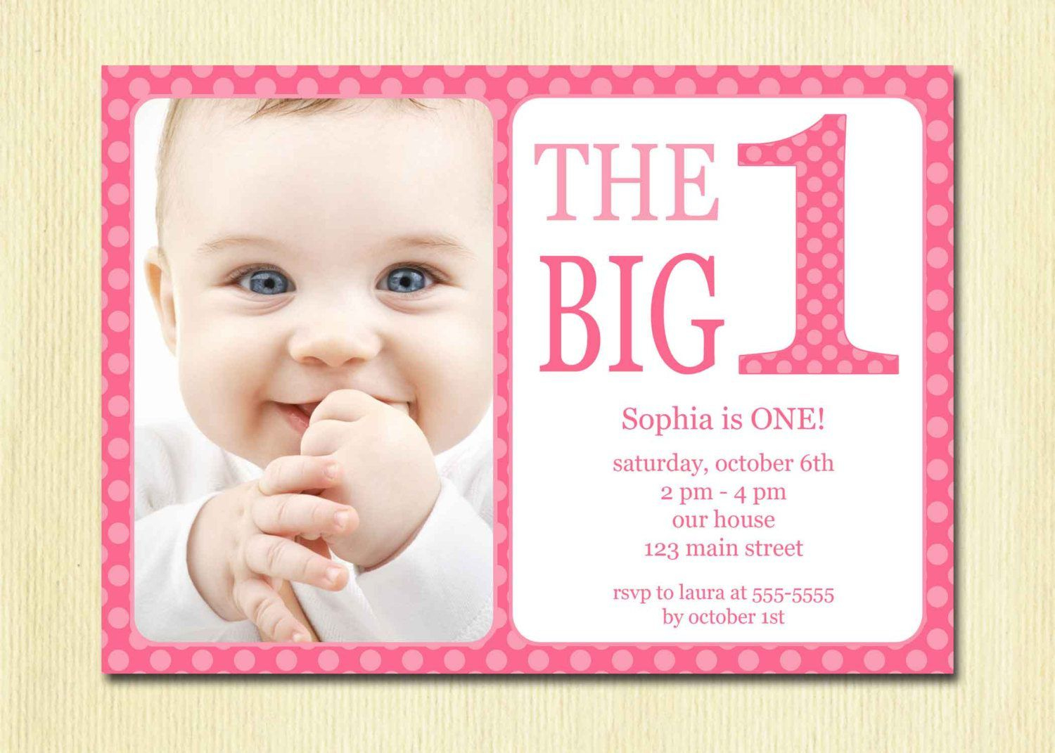 Free Printable 1st Birthday Invitation Template With Regard To Sizing 1500 X 1071