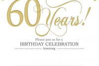Free Printable 60th Birthday Invitation Templates 60th Party intended for dimensions 796 X 1122