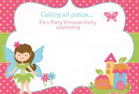 Free Printable Fairy Birthday Invitation Template Free Printable with regard to proportions 1500 X 1071