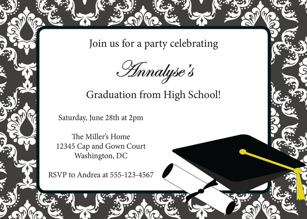 picture regarding Free Printable Graduation Party Invitations known as Commencement Invites Templates 2014 Invitation Template