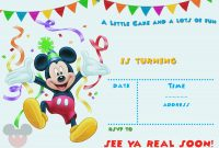 Free Printable Mickey Mouse Party Invitation Template Free for sizing 2100 X 1500