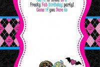 Free Printable Monster High Birthday Invitations Drevio in dimensions 1071 X 1500