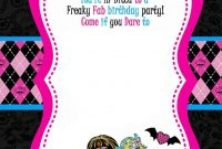 Free Printable Monster High Birthday Invitations Drevio inside proportions 1071 X 1500
