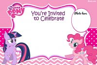 Free Printable My Little Pony Birthday Invitation Template throughout size 1600 X 1067