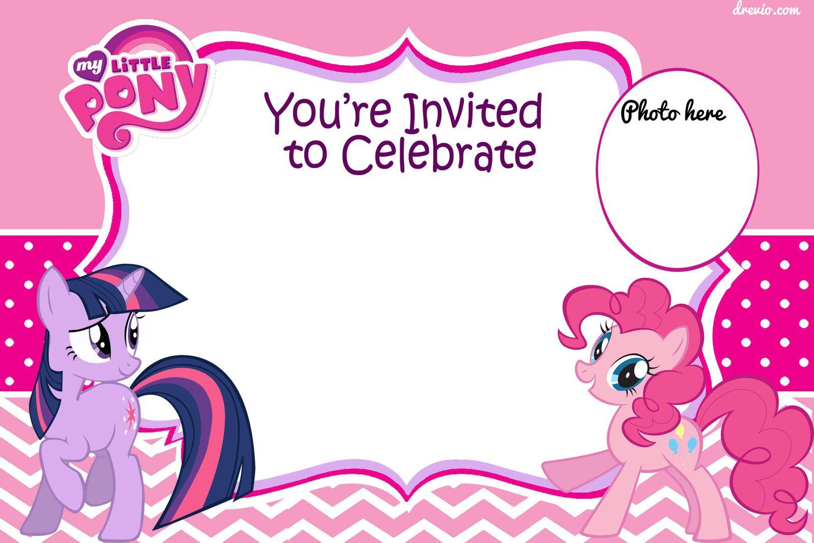 Pony Party Invitation Templates O Template Ideas