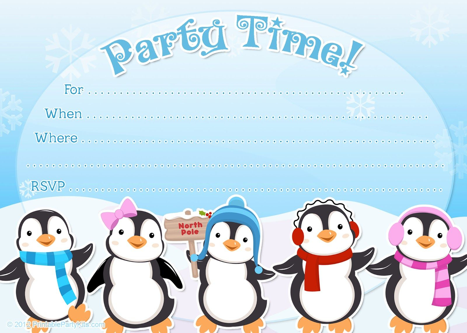 picture about Penguin Template Printable called Penguin Invitation Template Invitation Template Suggestions