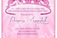 Free Printable Princess Birthday Invitation Templates Kids in dimensions 1071 X 1500