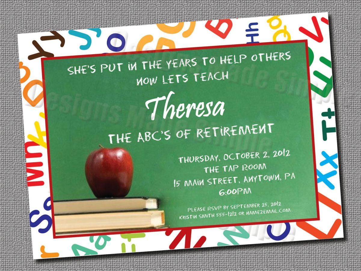 image about Printable Retirement Invitation referred to as Instructor Retirement Invitation Template Invitation Template