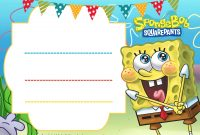 Free Spongebob Birthday Invitation Template Free Printable with regard to dimensions 2100 X 1500