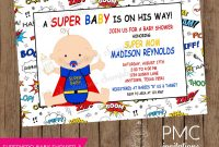 Glamorous Superman Ba Shower Invitations To Create Your Own Free for proportions 1500 X 1313