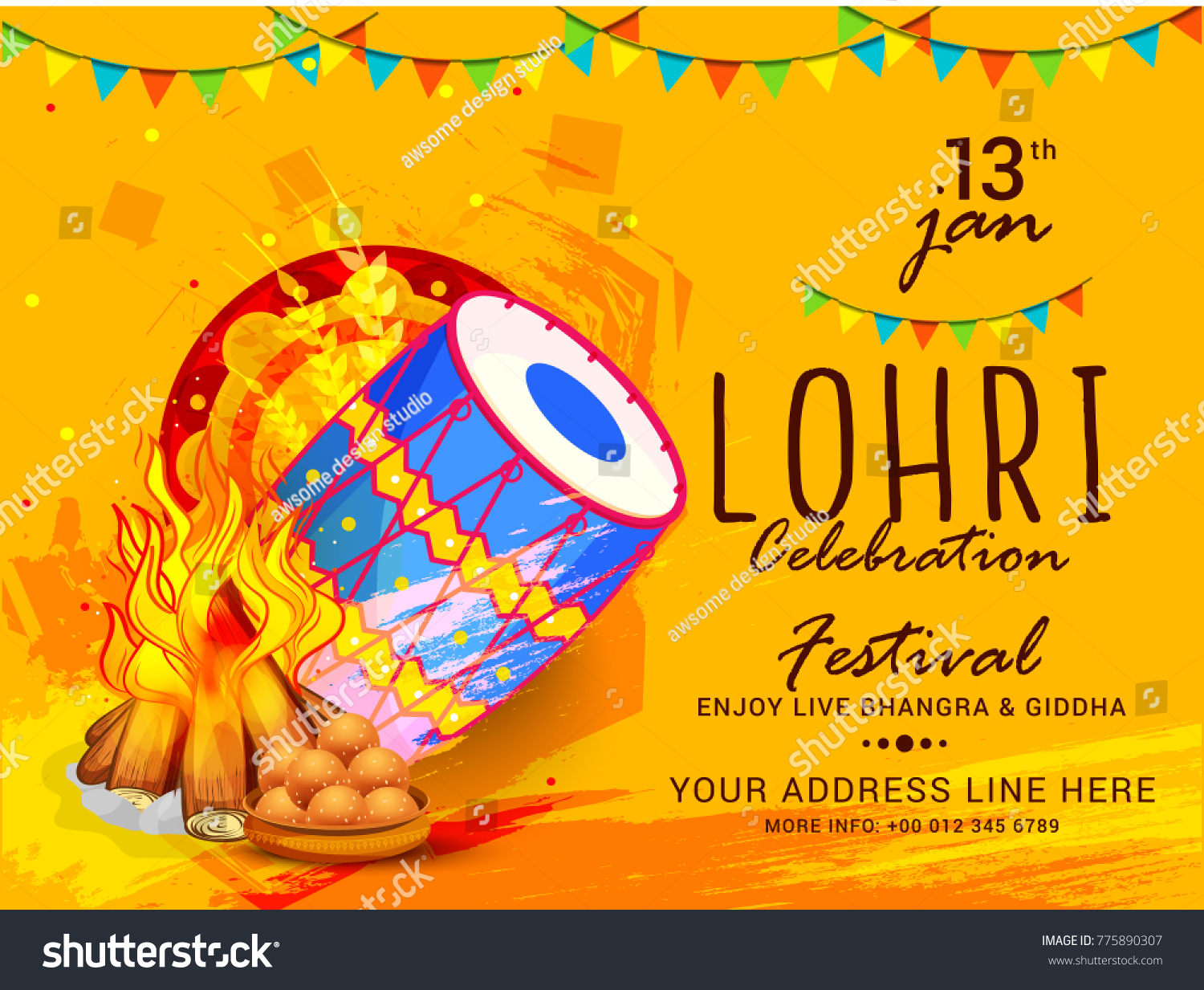 lohri invitation cards wordings