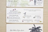 Image For Boarding Pass Wedding Invitation Template Our Dream regarding dimensions 788 X 1000