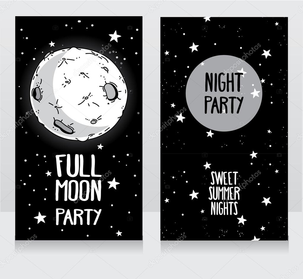 Invitation Template To Full Moon Party Stock Vector Ghouliirina in measurements 1023 X 943