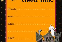 Kids Halloween Party Invitations Template Best Template Collection in sizing 1143 X 1600