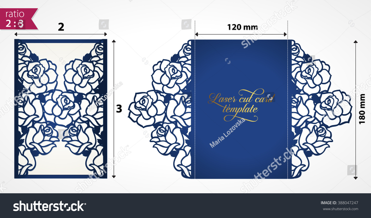 Laser Cut Wedding Invitation Template Roses Stock Vektorgrafik within size 1500 X 882