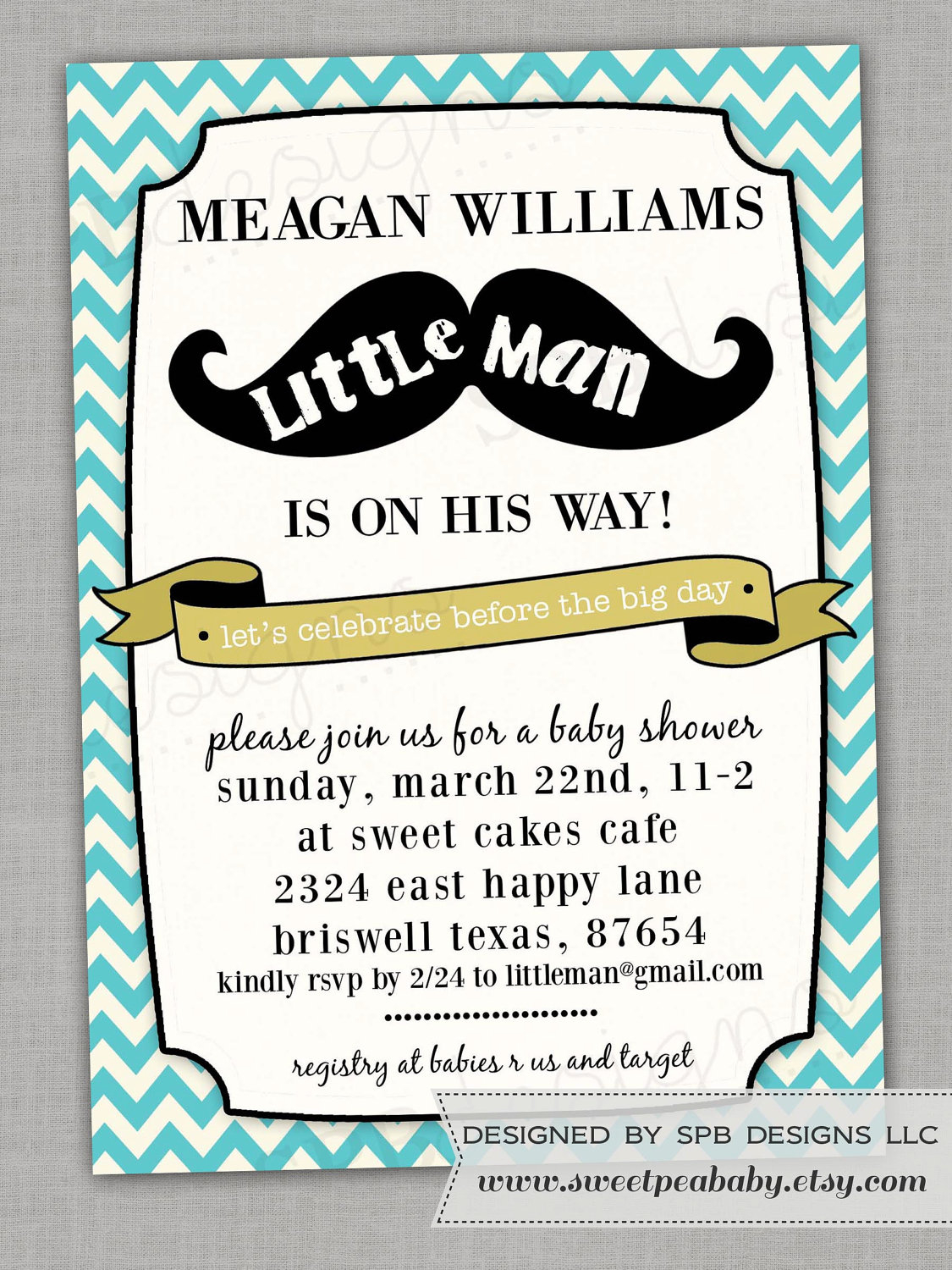 Little Man Ba Shower Invitations Little Man Ba Shower with measurements 1125 X 1500