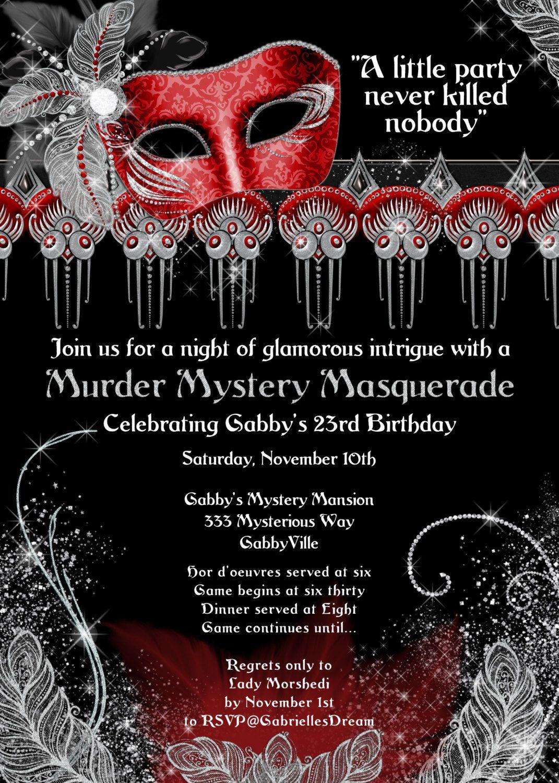 Murder Mystery Invitation Template O Ideas