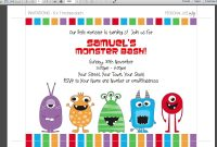 Monster Birthday Invitations Monster Birthday Invitations With for size 1920 X 1080