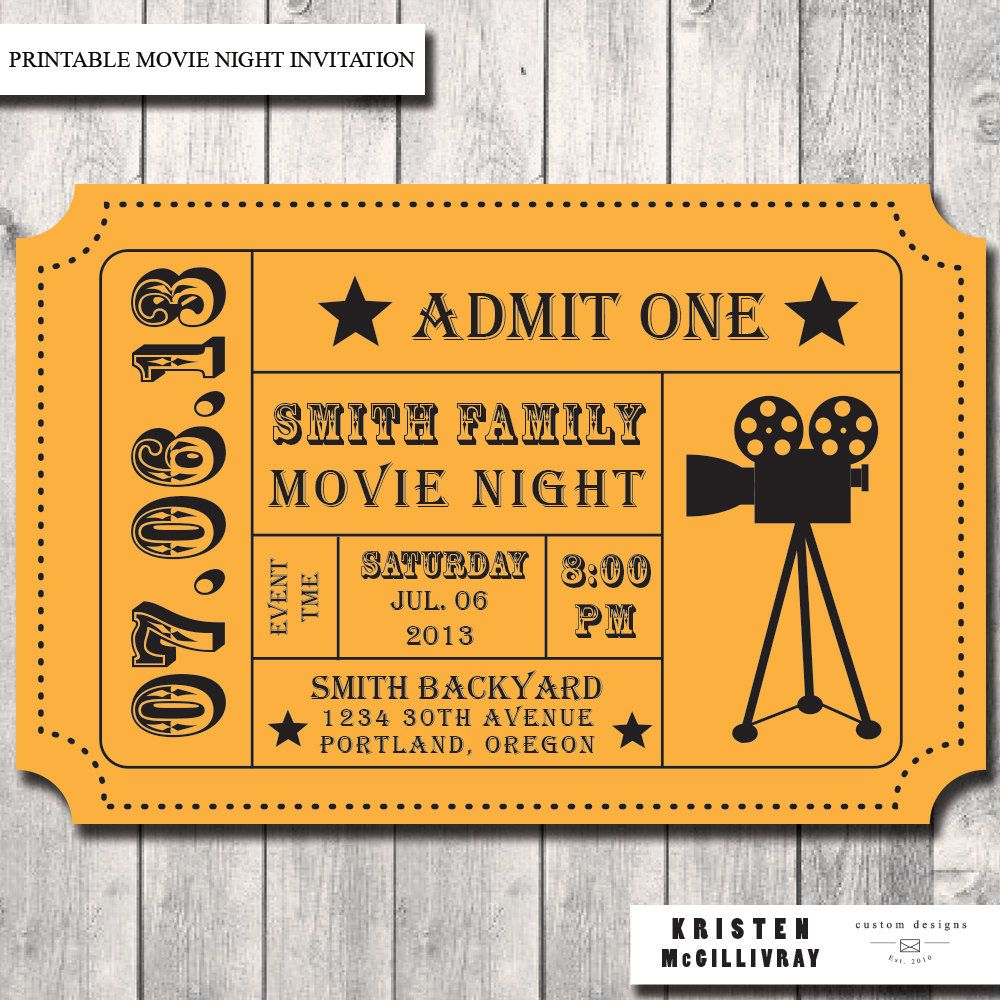 photo regarding Printable Movie Ticket Invitation called Cinema Ticket Invitation Template Invitation Template Guidelines
