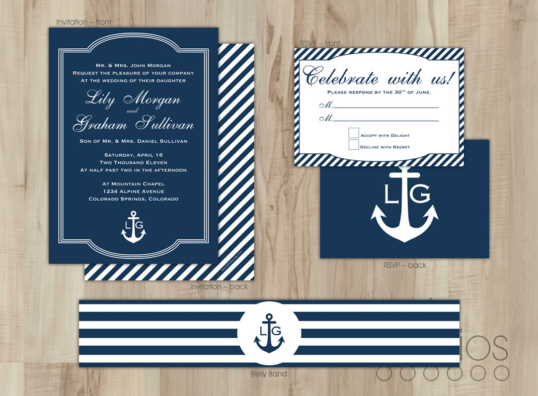 Nautical Wedding Invitations Nautical Wedding Invitations Means throughout measurements 1069 X 788