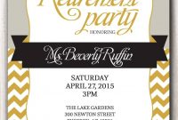 Retirement Party Invitation Template Microsoft Retirment Party in sizing 1071 X 1500