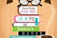 Retro Womens Book Club Event Invitation Design Template Stock for dimensions 791 X 1024