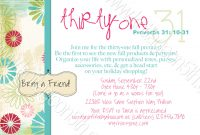 Thirty One Party Invitation Template Fwauk throughout size 1500 X 1038