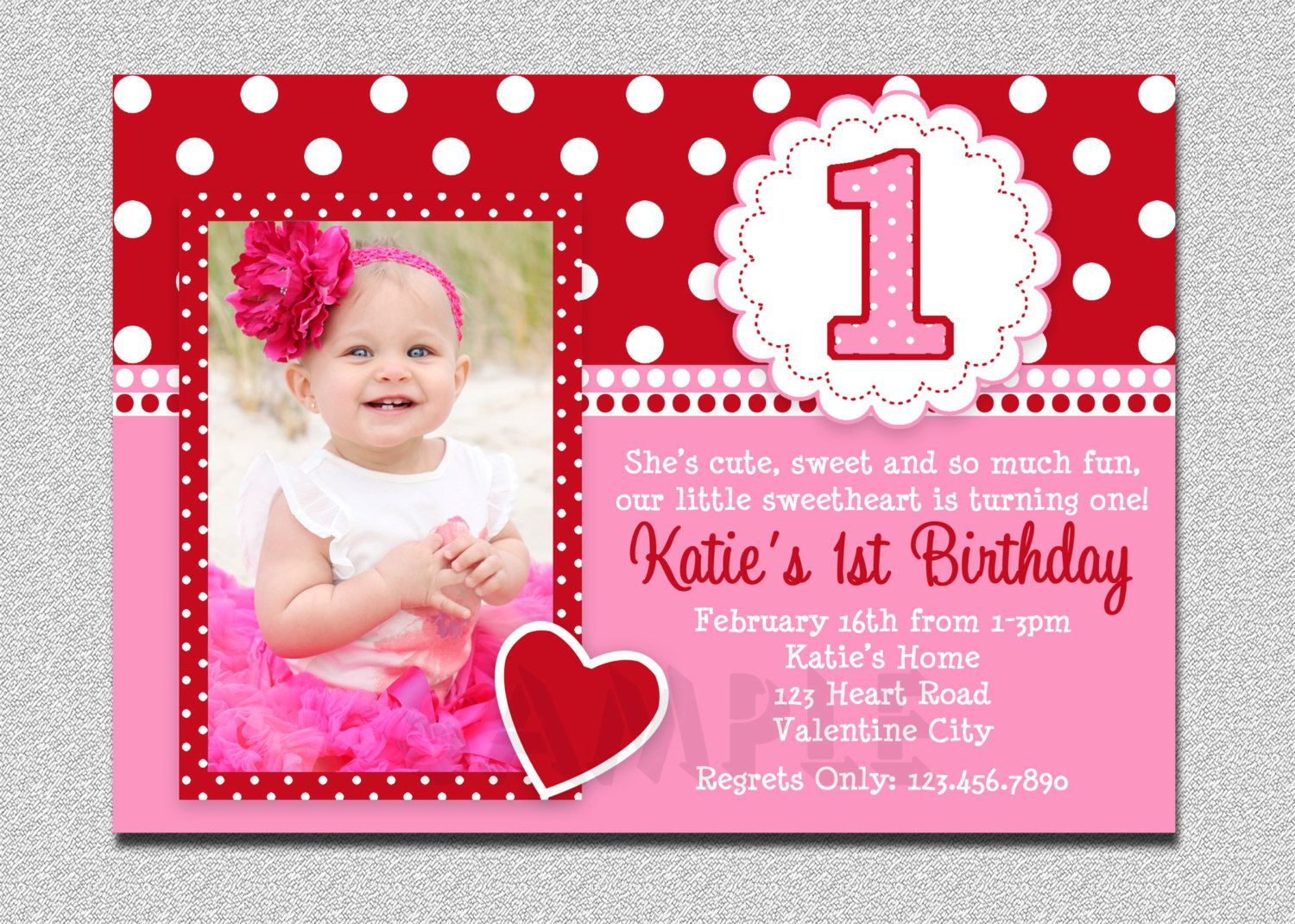 Valentines Birthday Invitation 1st Inside Sizing 1500 X 1071