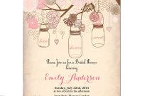 Vintage Bridal Shower Invitation Templates Free Projects To Try throughout sizing 1000 X 1000