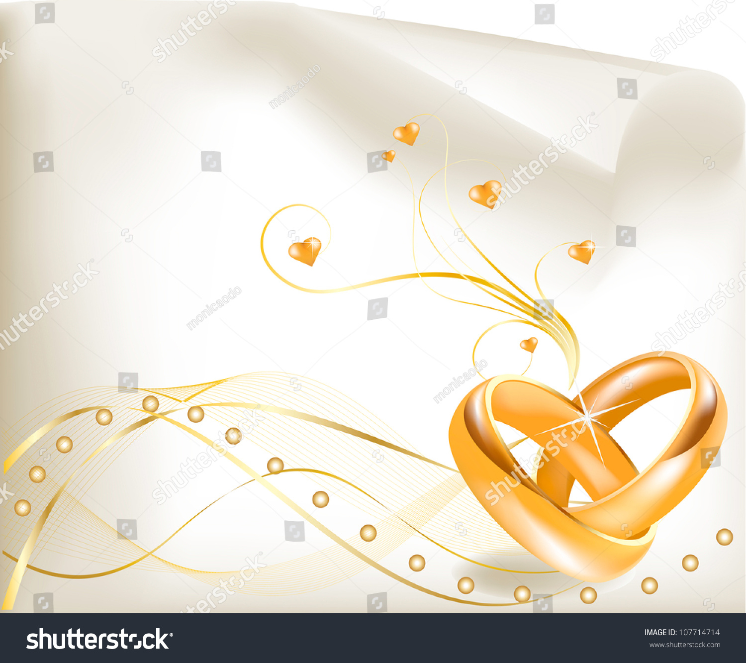 Wedding Invitation Template Beautiful Golden Wedding Stock Vector inside dimensions 1500 X 1333