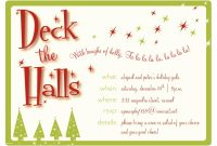 Word Christmas Party Invitation Templates Free Lovely Holiday in dimensions 1400 X 1000