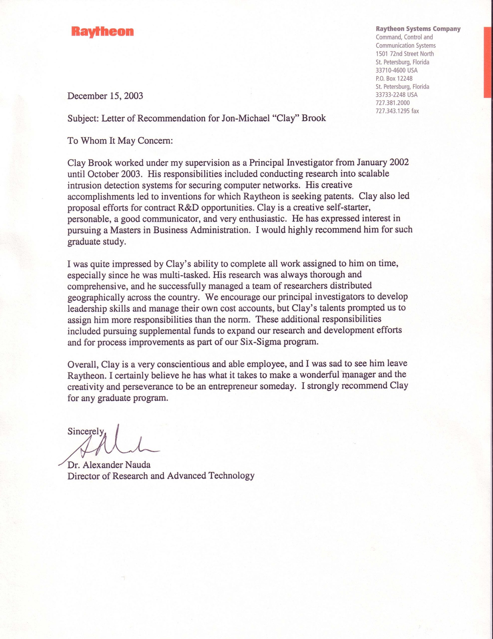Letter Of Recommendation To Unknown Recipient • Invitation ...