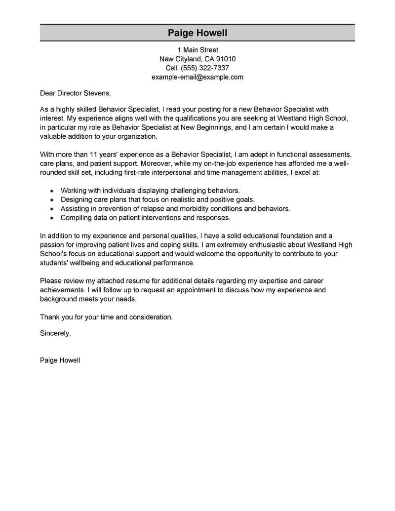 Sample Recommendation Letter For Mental Health Counselor