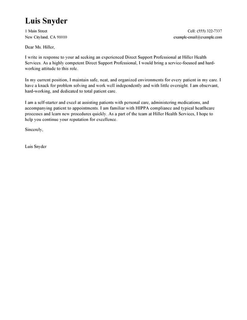 Reference Letter For Support Worker • Invitation Template ...