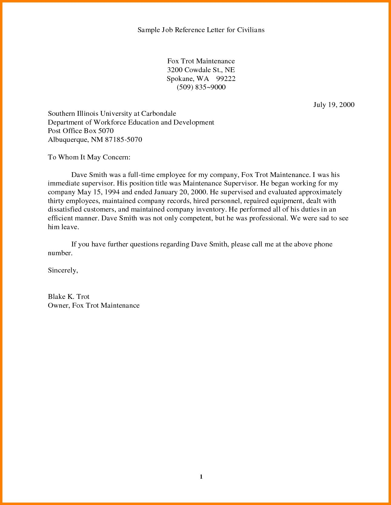 Best Ideas Of Employment Reference Letter Sample Doc Best for proportions 1291 X 1666