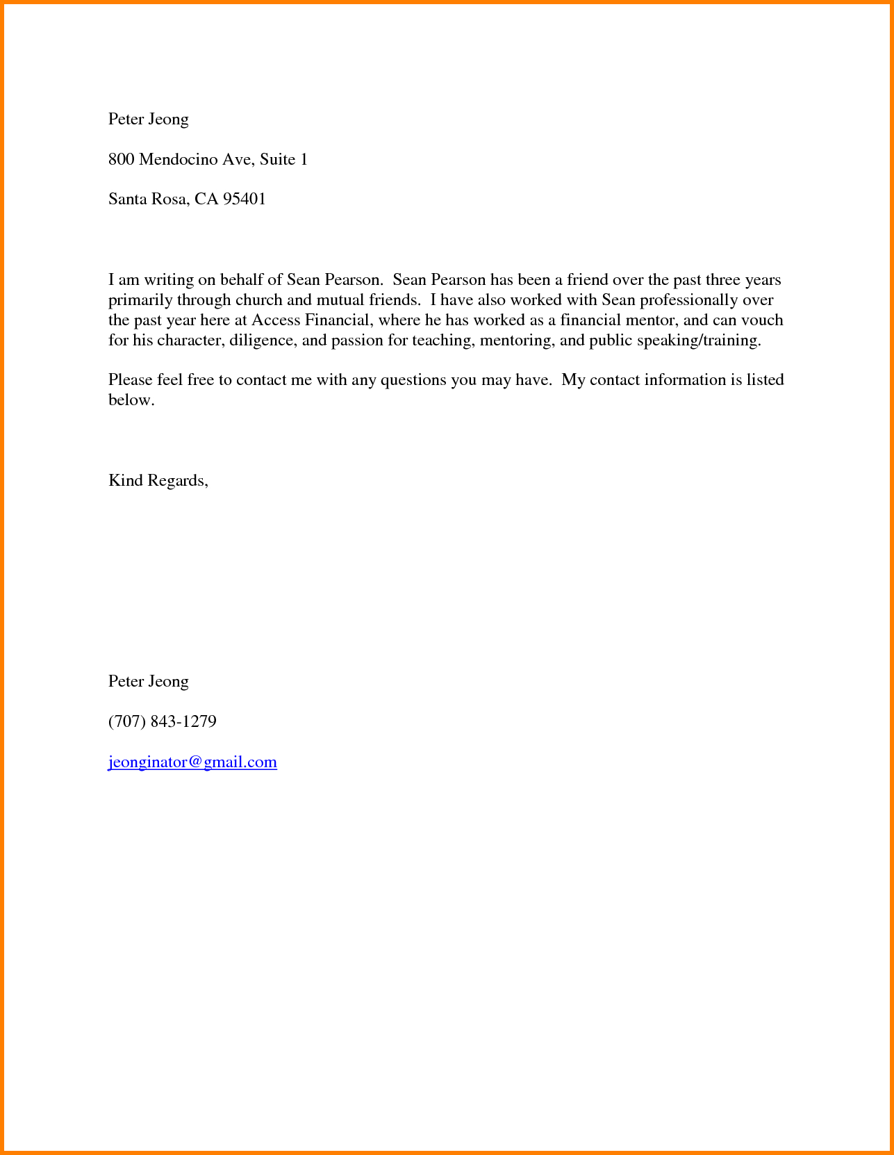 example of a character reference letter  u2022 invitation